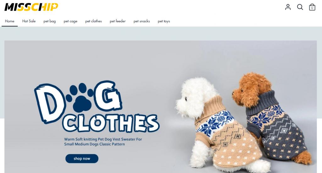 Misschip online store homepage image
