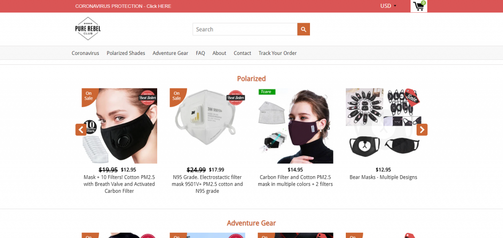 pure rebel club homepage image