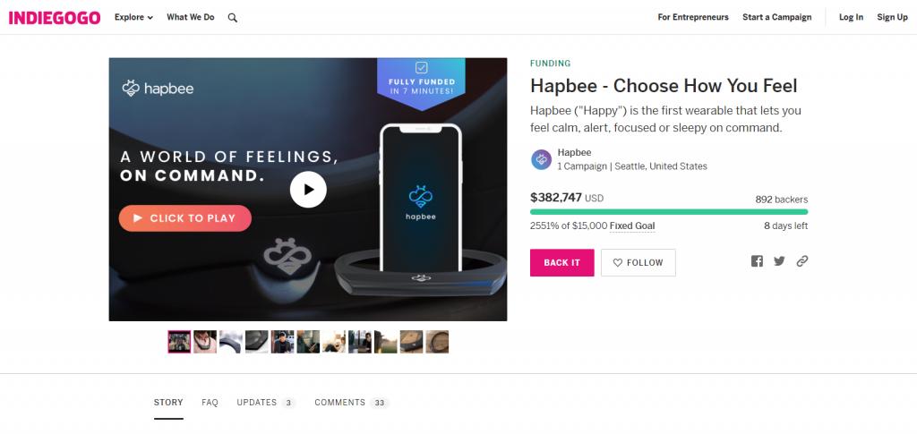 Hapbee gadget Image