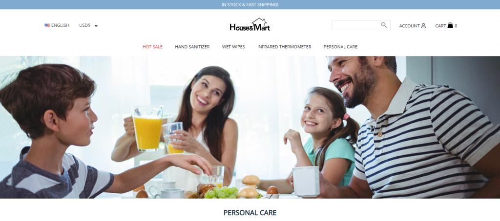 HouseandMart Homepage Image
