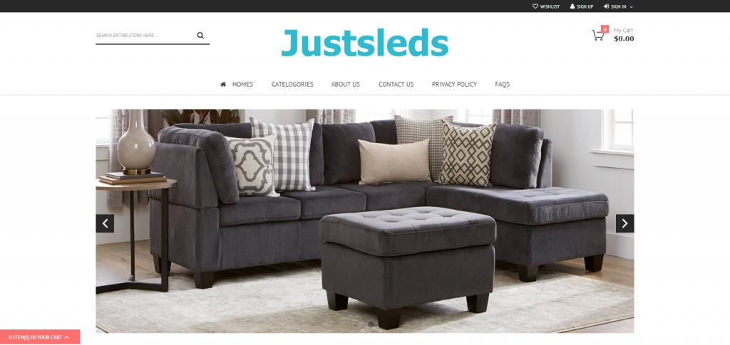 Justleds Homepage Image