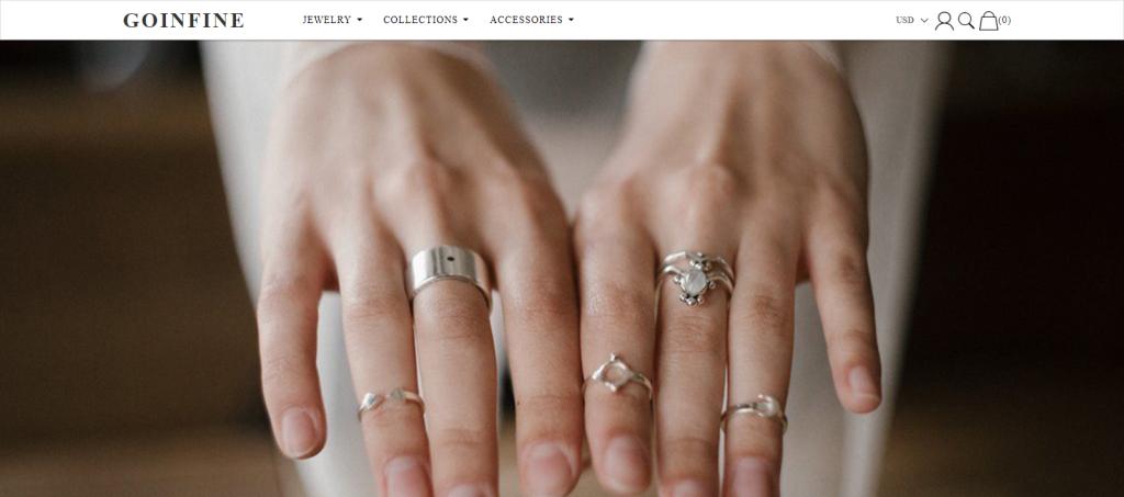 Goinfine Homepage Image