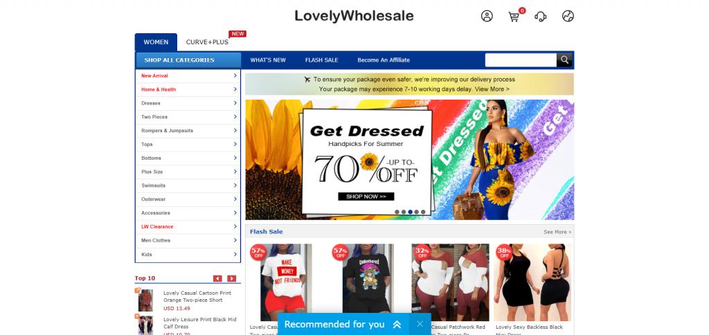 Lovelywholesale Homepage Image