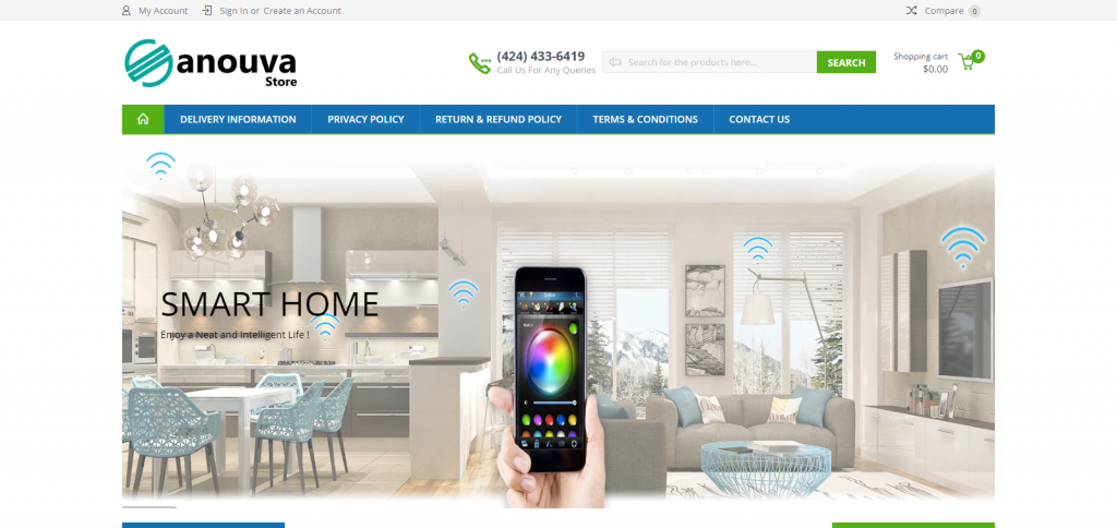 Sanouva Store Homepage Image