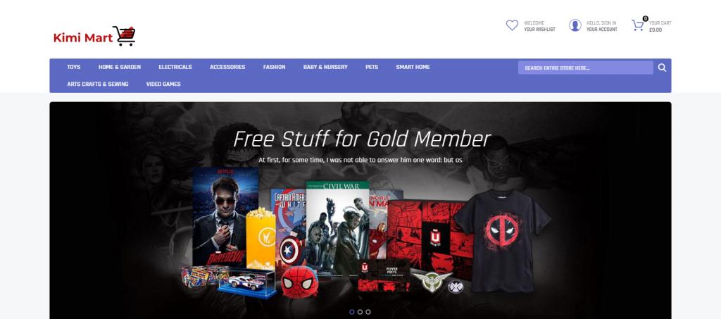 Kimimart Homepage Image