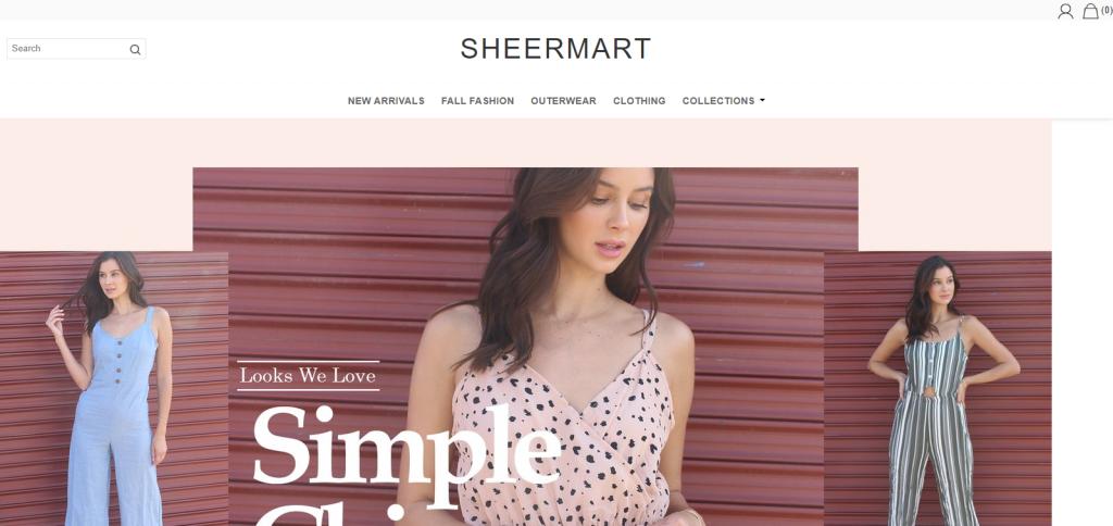 Sheermart homepage Image