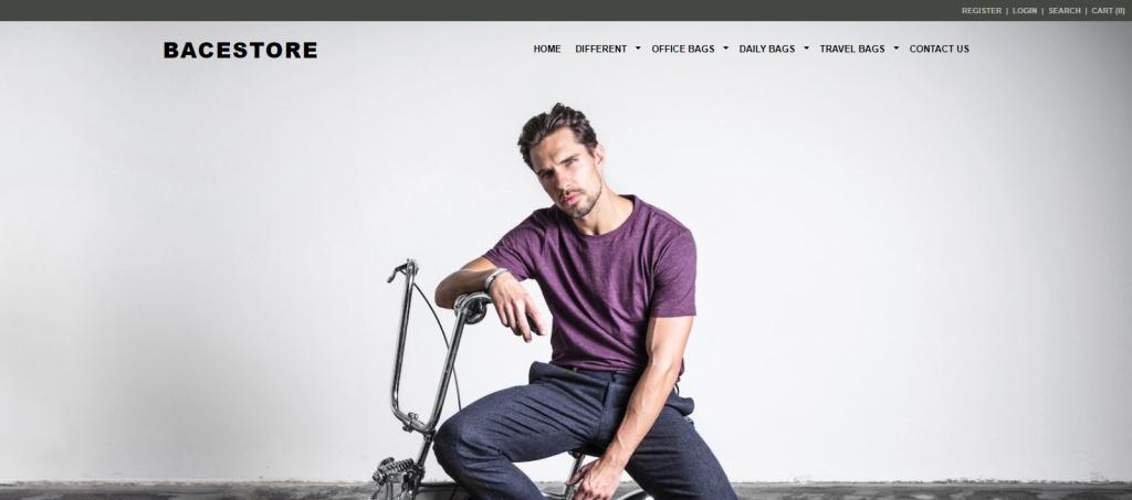 Bacestore Homepage Image