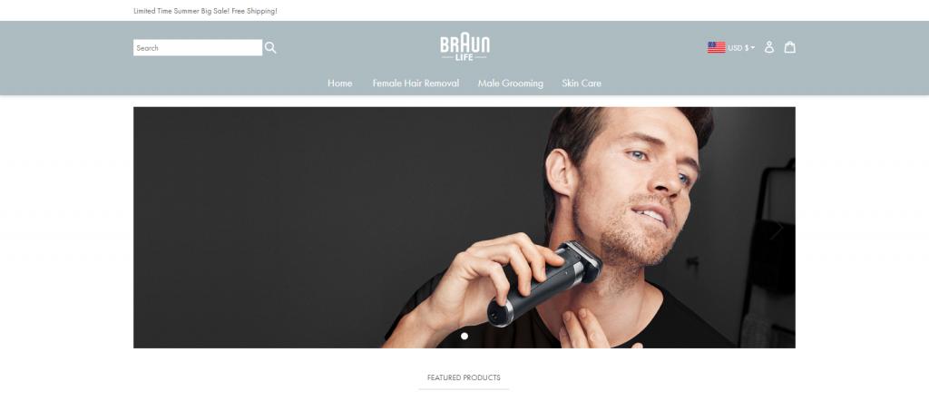 Braunlife homepage Image