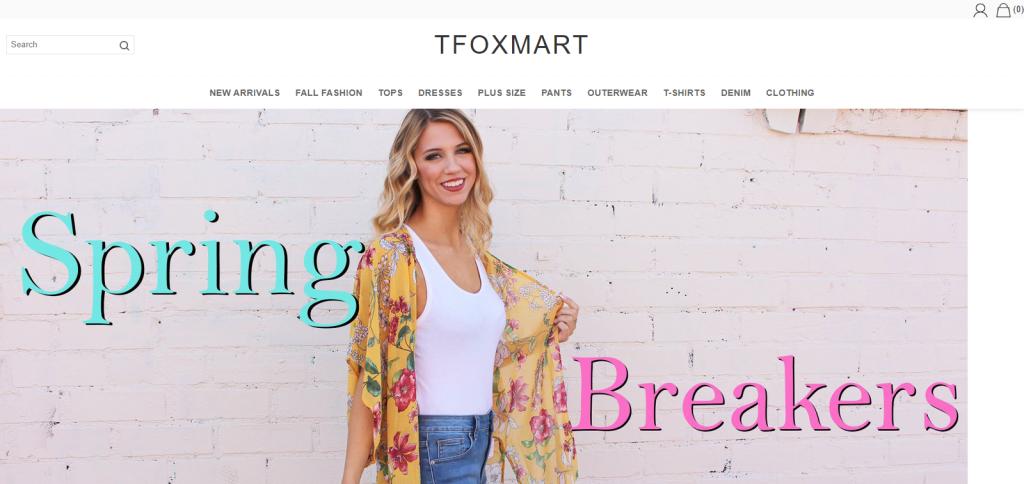 Tfoxmart Homepage Image
