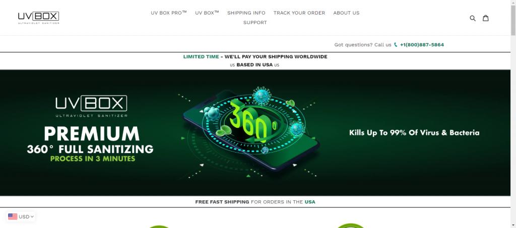 Theuvbox homepage Image