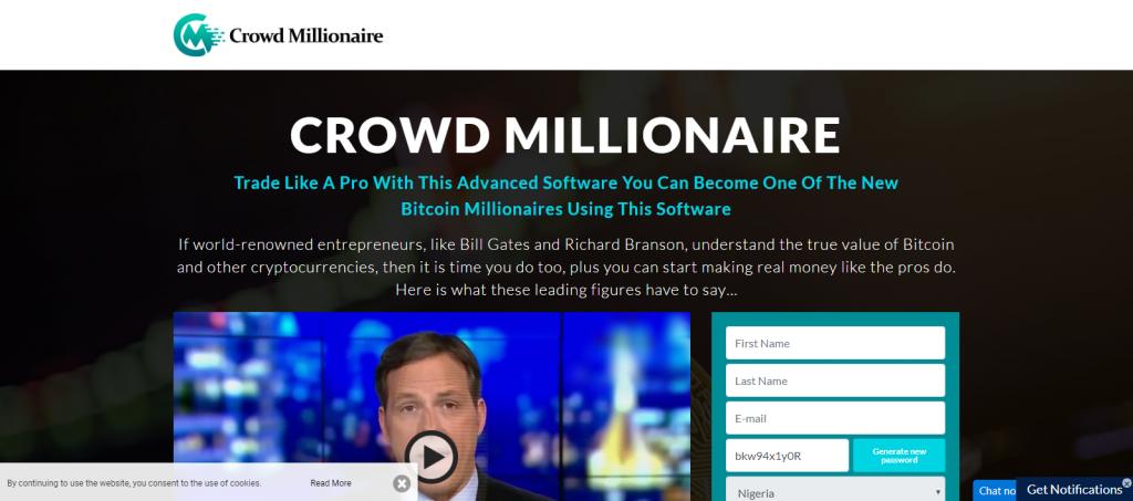 Crowd Millionaire Homepage Image
