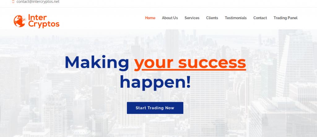 InterCryptos Homepage Image