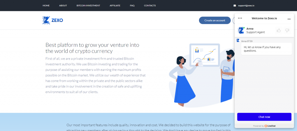 Zexo Homepage Image