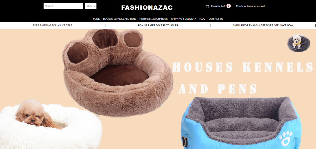 Fashionazac Homepaage Image