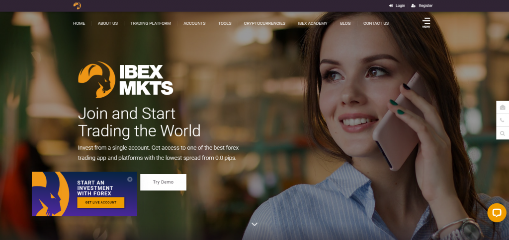 Ibexmarkets Homepage Image