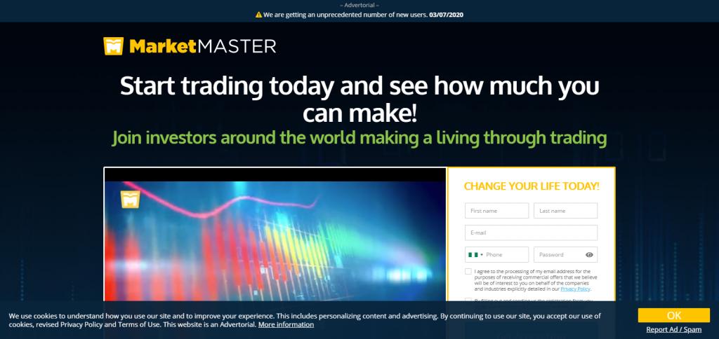 MarketMaster Homepage Image