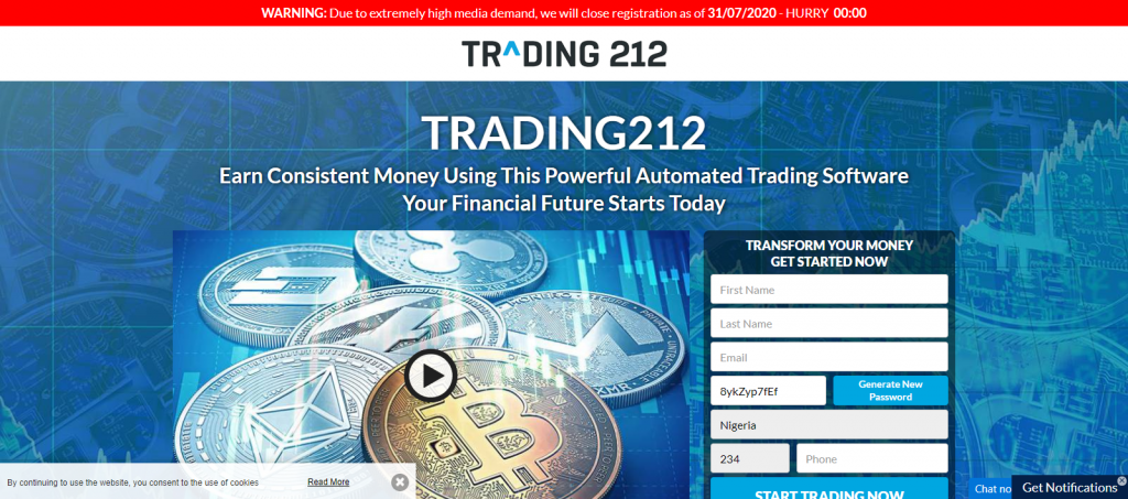 Trading212 Homepage Image