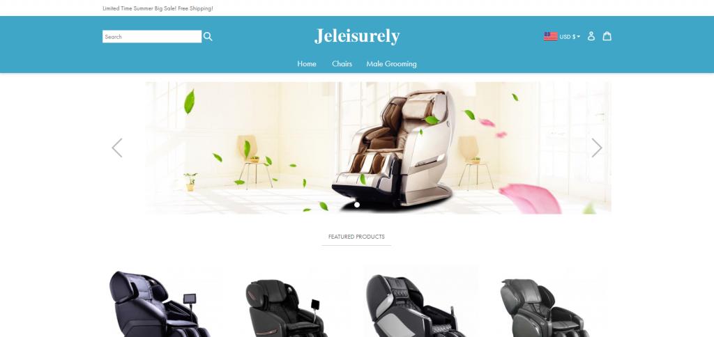 Jeleisurely Homepage Image