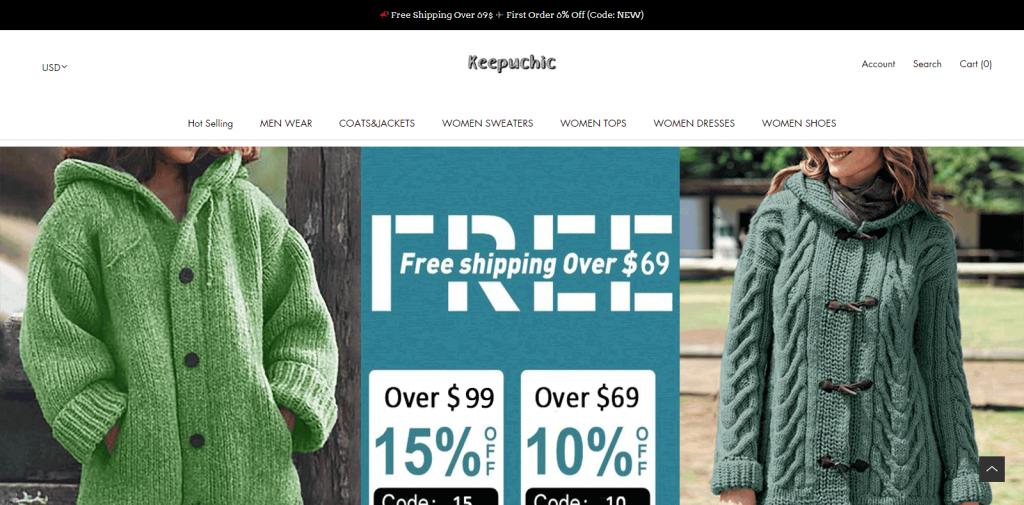 Keepuchic Homepage Image
