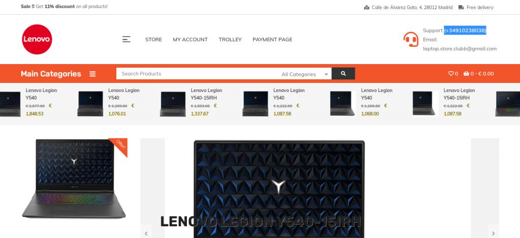 laptop-store.club Homepage Image
