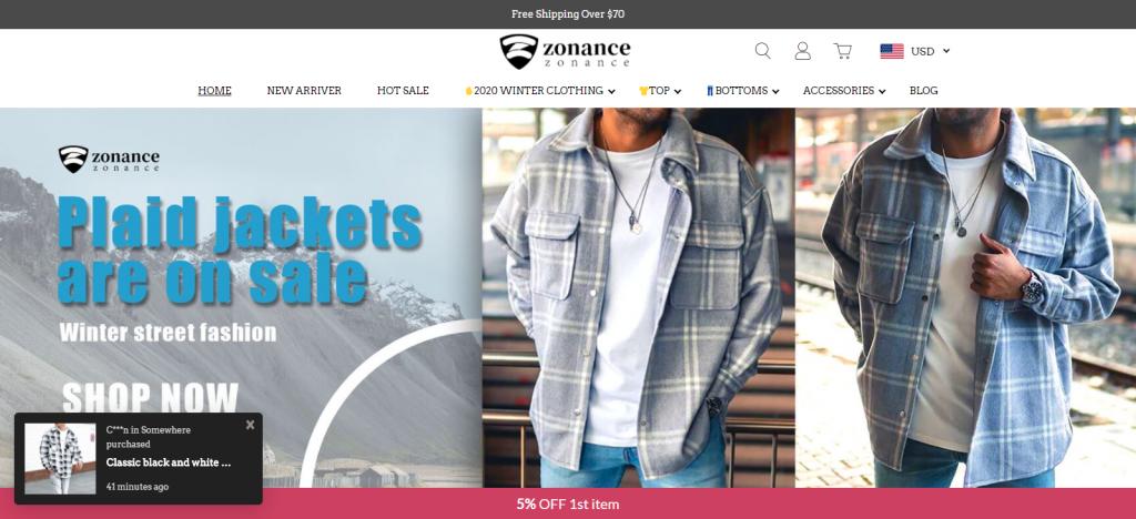 Zonance.com Homepage Image