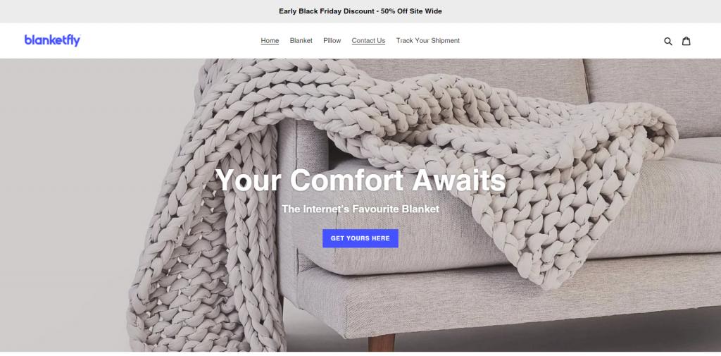 blanketbin.com Homepage Image