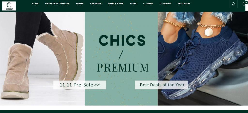 chicsday.com Homepage Image