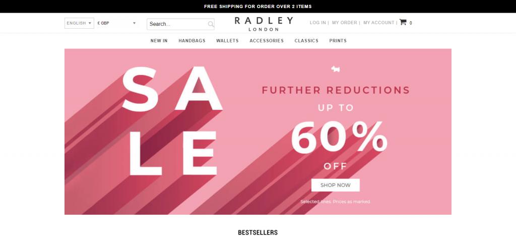 Fashionbagoutletonline.com Homepage Image