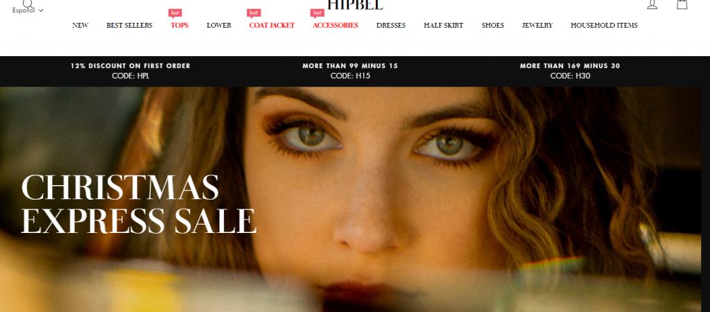 Hipbel.com Homepage Image
