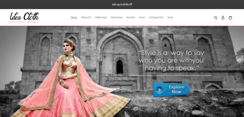 Ideaclothforyou com Homepage Image