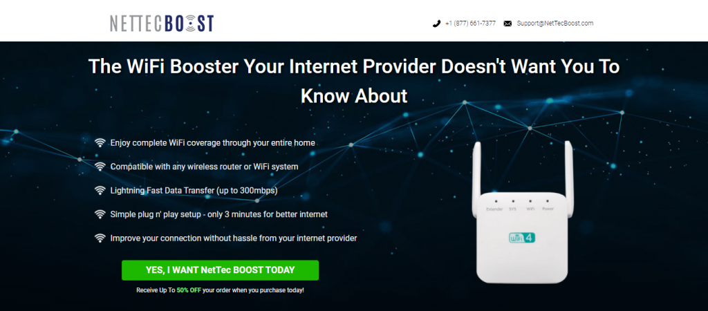 Nettec Boost Homepage Image