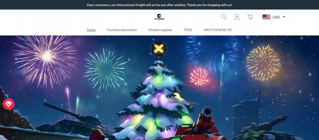 Thygody.com Homepage Image