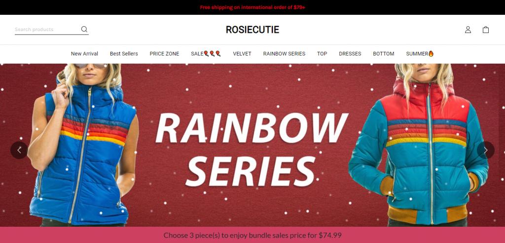 Rosiecutie.com Homepage Image Scam