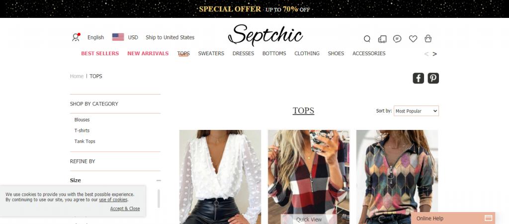 Septchic.com Homepage Image