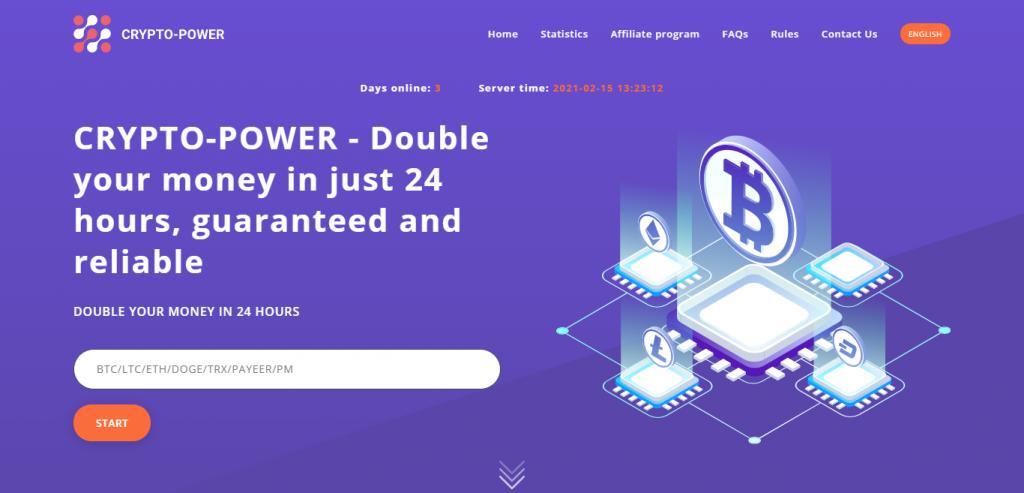 Crypto-power.vip Homepage Image