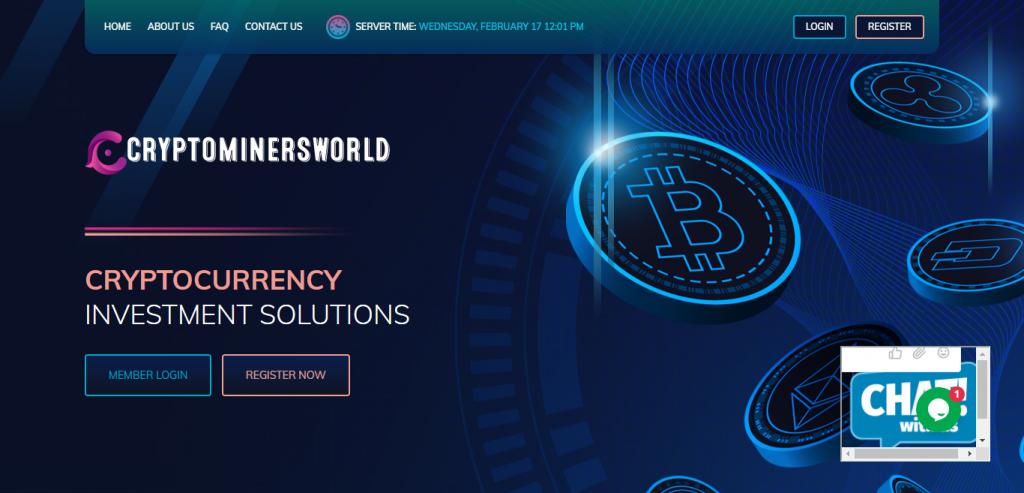 Cryptominersworld.com Homepage Image