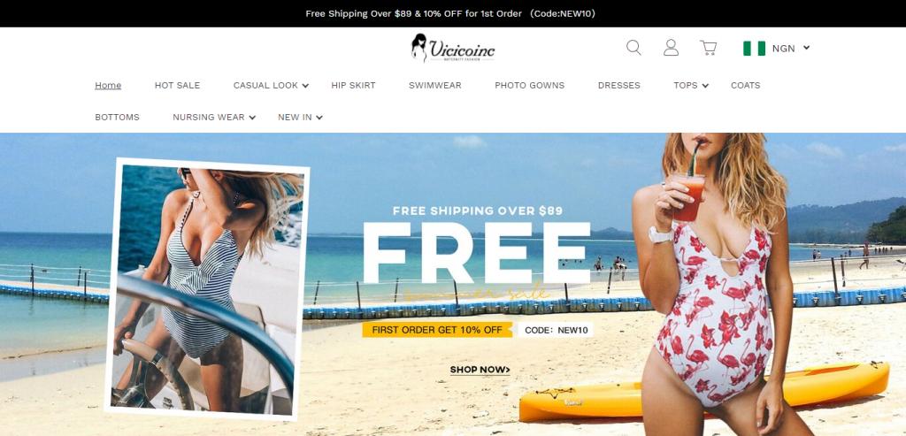 Vicicoinc.com Homepage Image