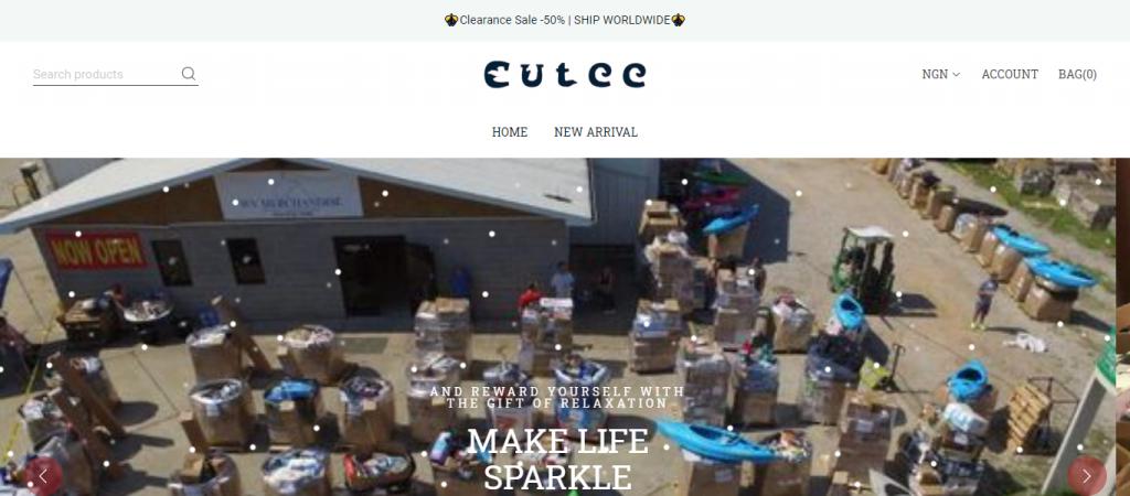 cutee.store homepage image