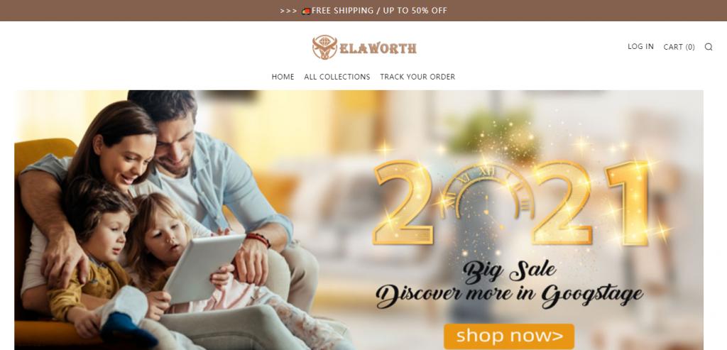 Elaworth.com Homepage Image