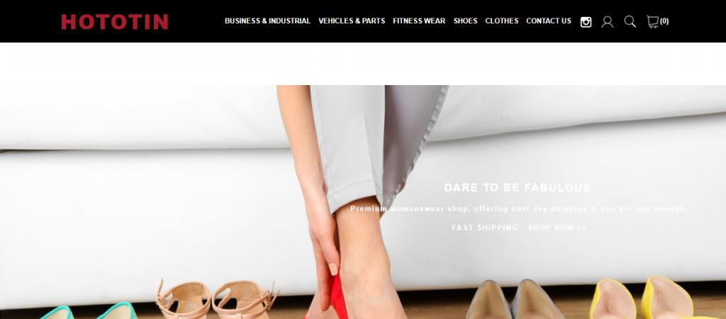 hototin.com Homepage image