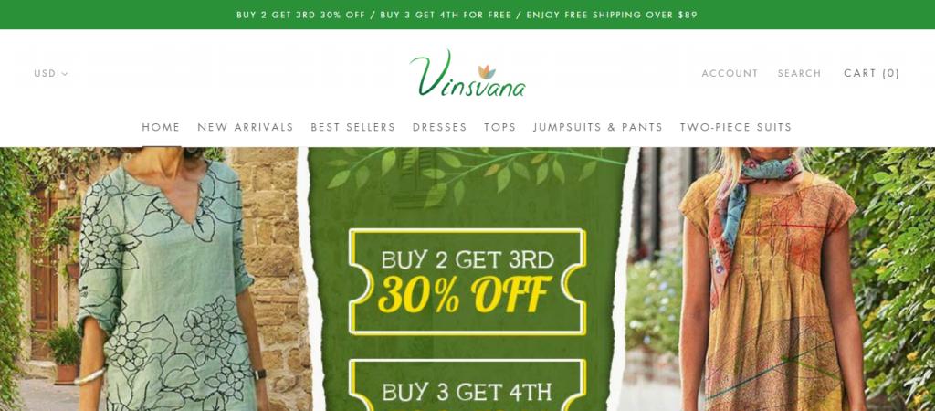 Vinsvana Homepage Image