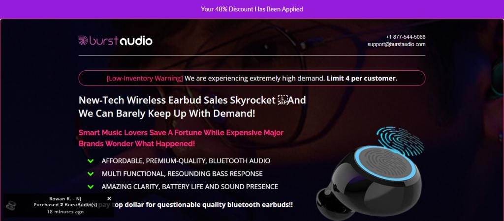 Burst Audio Homepage Image