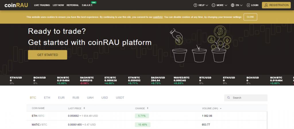 Coinrau.com Homepage Image