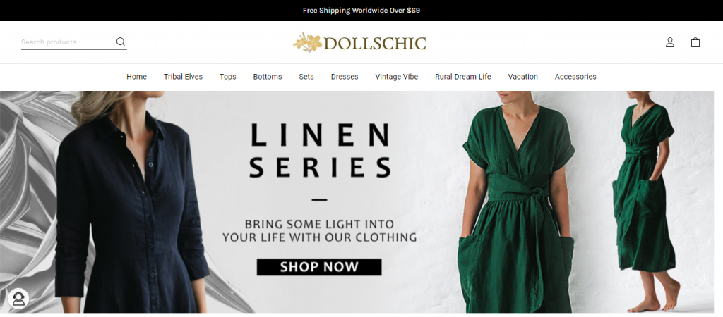 dollschic.com Homepage Image