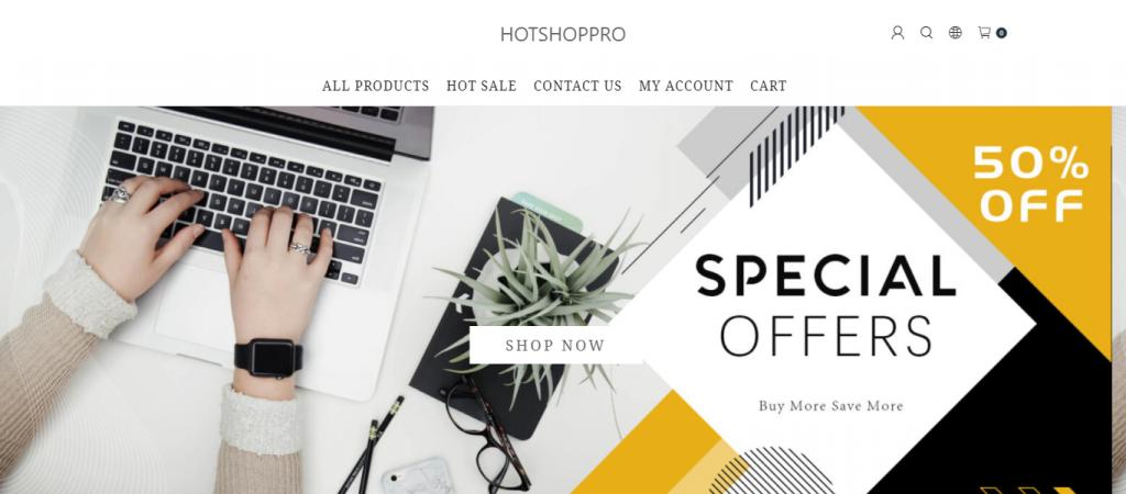 hotshoppro.com Homepage Image