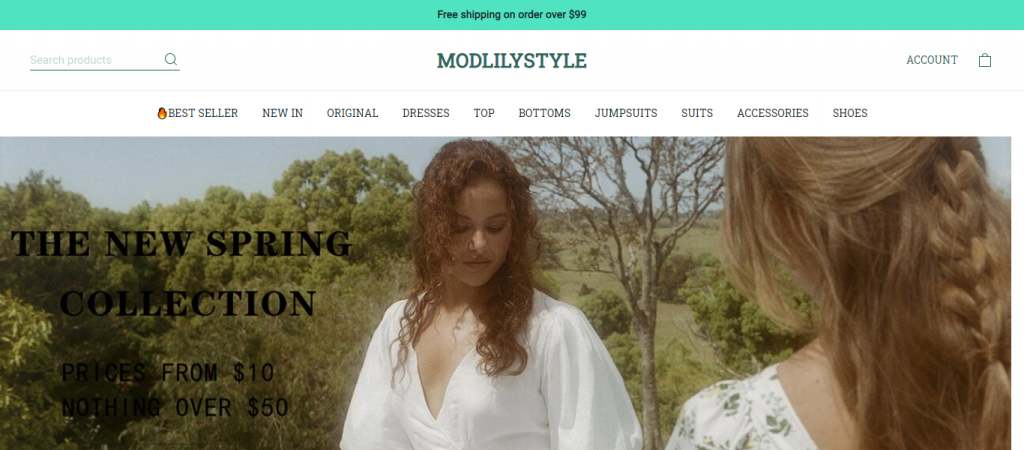 modlilystyle.com Homepage Image