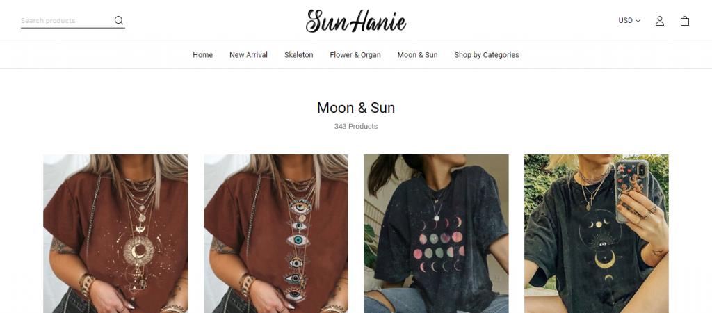 sunhanie.com Homepage Image