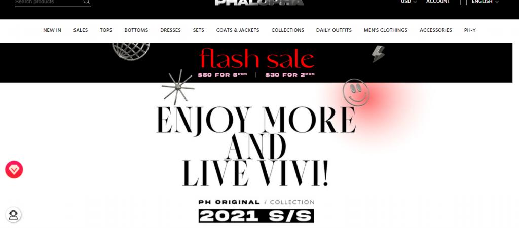 Phalopha.com Homepage Image