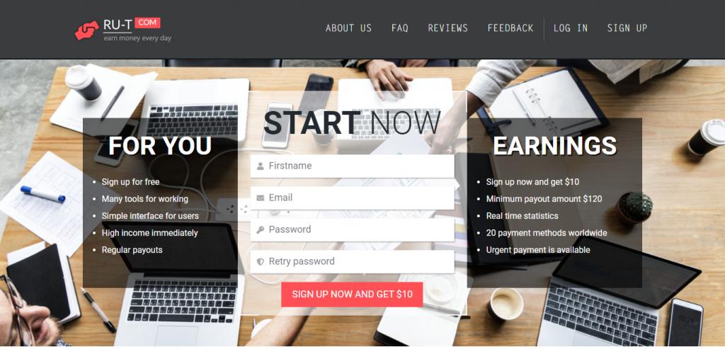 Ru-t.com Homepage Image